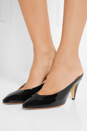 Heel Slipper patent-leather mules