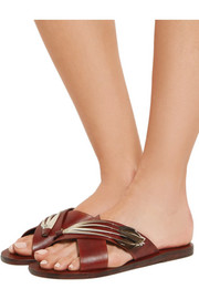 + CARAVANA Thais Tulum feather-embellished leather sandals