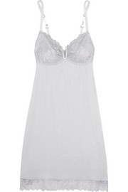 Eberjey Daria lace-trimmed modal-jersey chemise
