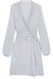 Daria lace-trimmed modal-jersey robe