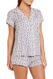 Eberjey Nightingale printed stretch-modal jersey pajama set