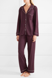 Gisele stretch-modal jersey pajama set