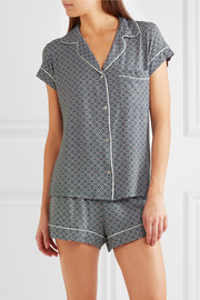 Eberjey Sleep Chic printed jersey pajama set