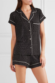 Sleep Chic printed jersey pajama set