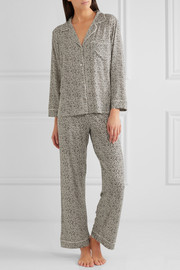 Sleep Chic leopard-print jersey pajama set