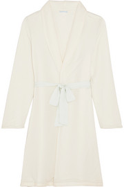 Alpine Chic reversible modal-jersey and fleece robe