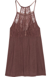 Saskia lace-trimmed stretch-jersey camisole
