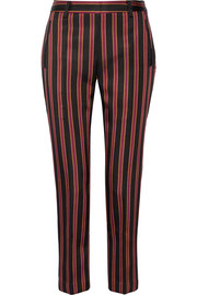 Tomas Maier Striped satin-twill straight-leg pants