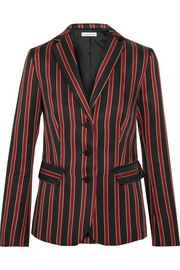Tomas Maier Striped satin-twill blazer