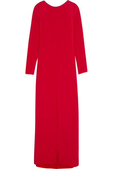 Juan Carlos Obando - Trenton Open-back Silk-crepe Gown - Crimson