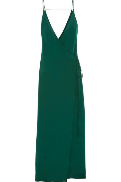 Juan Carlos Obando - Essex Silk Wrap Gown - Emerald