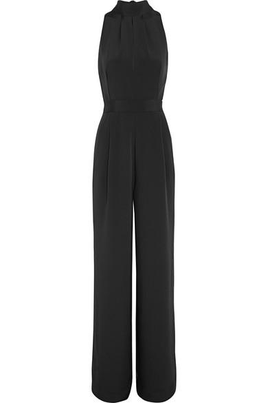 Juan Carlos Obando - Harper Silk-crepe Halterneck Jumpsuit - Black