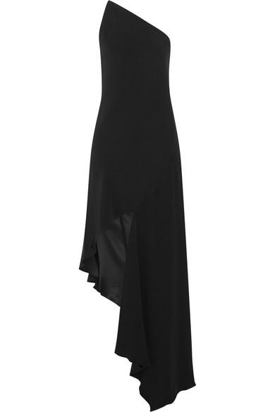 Juan Carlos Obando - Dalton One-shoulder Silk-crepe Gown - Black