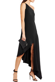 Dalton one-shoulder silk-crepe gown