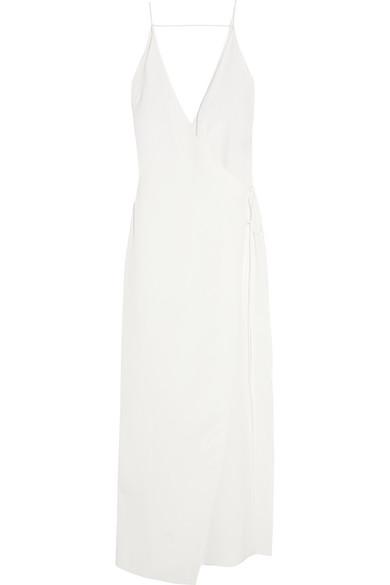 Juan Carlos Obando - Essex Silk-crepe Wrap Gown - Ivory