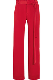Lillian silk-crepe wide-leg pants