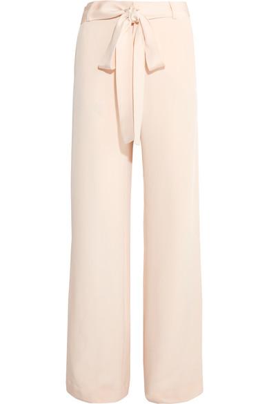 Juan Carlos Obando - Lillian Silk-crepe Wide-leg Pants - Cream