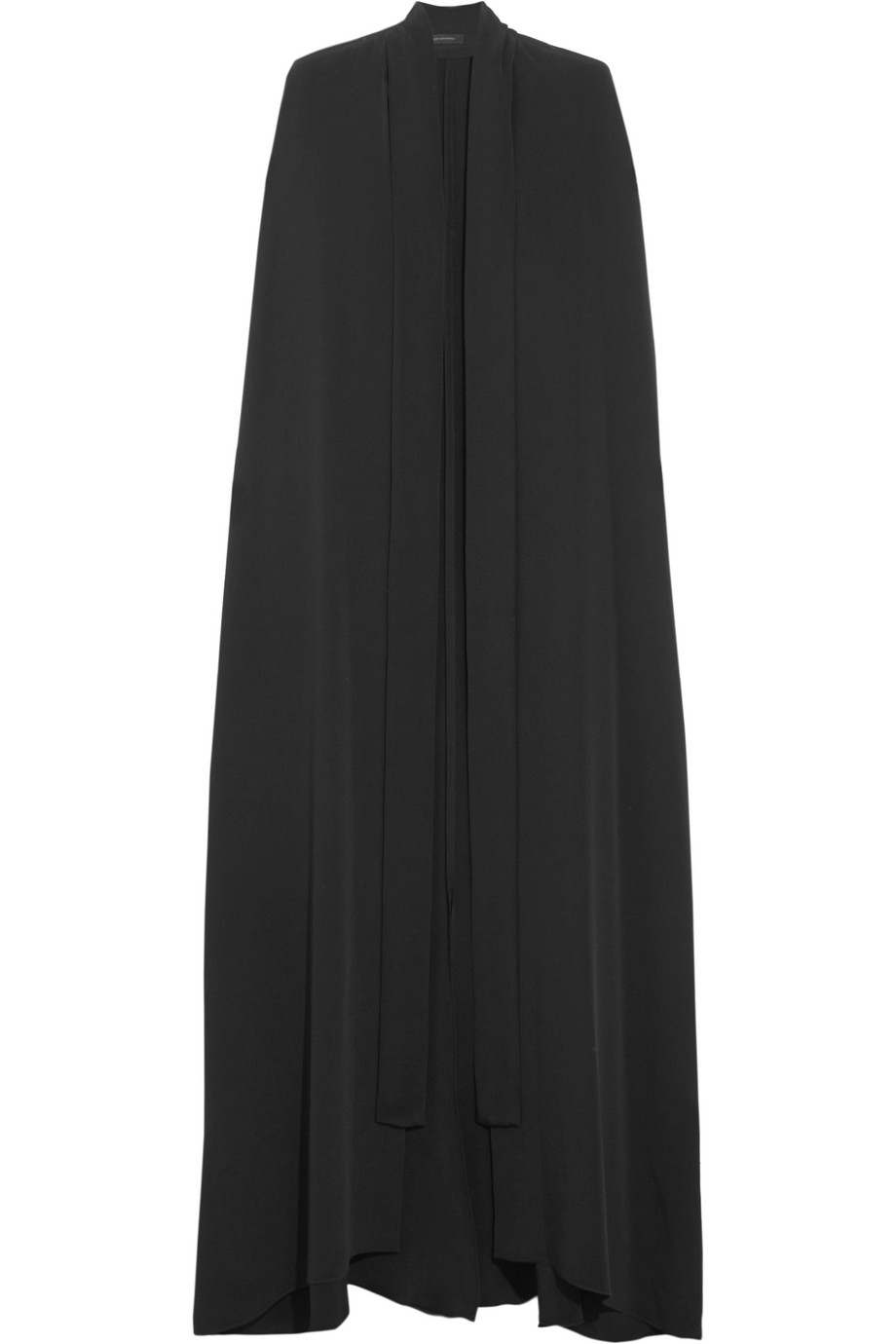 Avalon Silk-Crepe Cape, Black, Women's, Size: 4