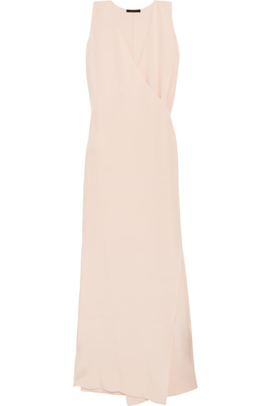 Juan Carlos Obando - Elmwood Silk-crepe Wrap Gown - Cream