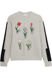 Embroidered cotton-terry sweatshirt
