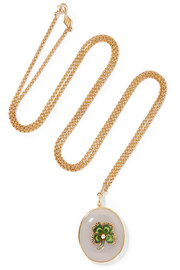 Fred Leighton Collection 9-karat gold, chalcedony and diamond necklace