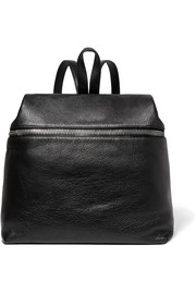 Large textured-leather backpack