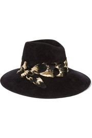 Eugenia Kim Emmanuelle feather-trimmed rabbit-felt fedora