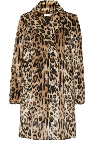 Alice + Olivia - Montana Leopard-print Faux Fur Coat - Leopard print