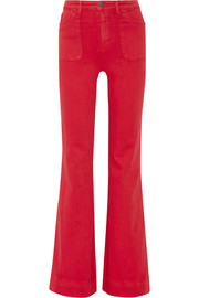 Alice + Olivia Juno high-rise wide-leg jeans