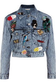 Chloe appliquéd denim jacket