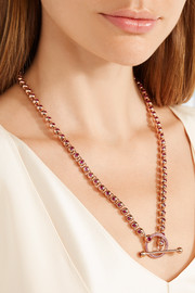 Eddie Borgo Voyager rose gold-plated cubic zirconia necklace