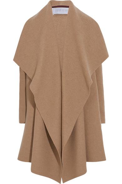 Harris Wharf London - Draped Wool-felt Coat - Camel
