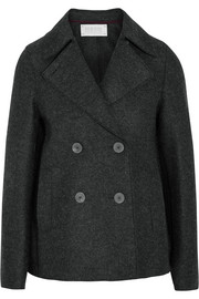 Double-breasted wool-felt peacoat