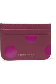 Roseberry polka-dot leather cardholder