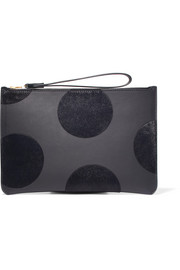 Sophie Hulme Talbot polka-dot calf hair and leather pouch
