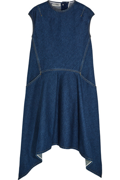 Balenciaga - Asymmetric Denim Dress - Dark denim