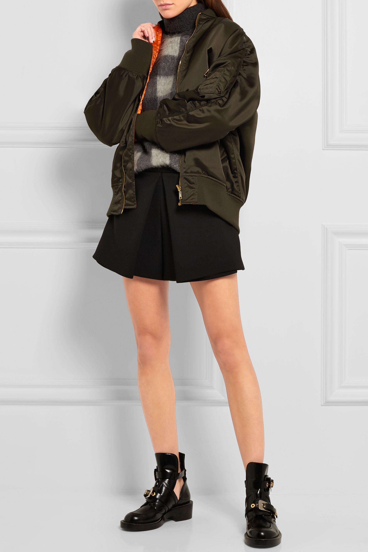 Balenciaga Pleated wool-blend crepe shorts