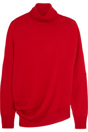 Wool, silk and cashmere-blend turtleneck sweater