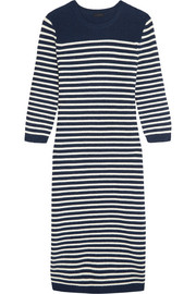 Liv striped wool-blend midi dress