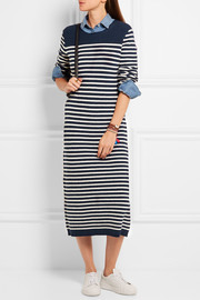 J.Crew Liv striped wool-blend midi dress
