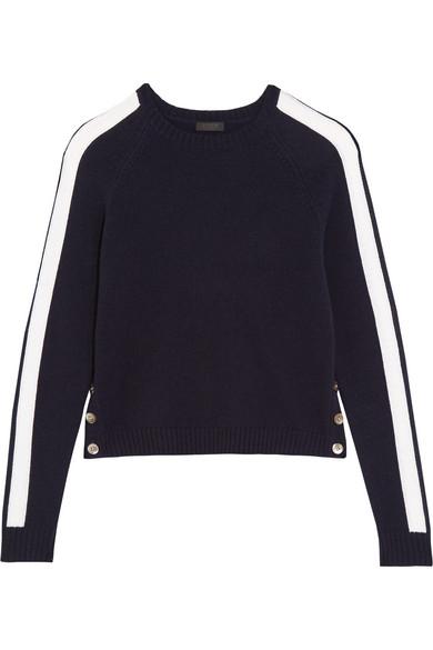 J.Crew - Zoinks Striped Cashmere Sweater - Midnight blue