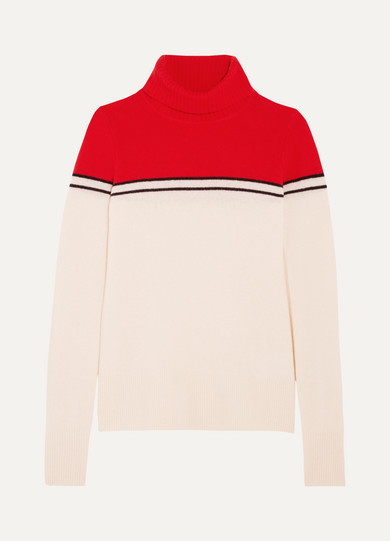J.Crew - Gadzooks Color-block Wool Turtleneck Sweater - Ivory
