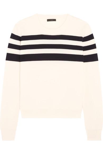 J.Crew - Liv Striped Merino Wool Sweater - Ivory