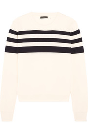 J.Crew Liv striped merino wool sweater