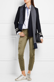 J.Crew Reversible printed silk-twill scarf