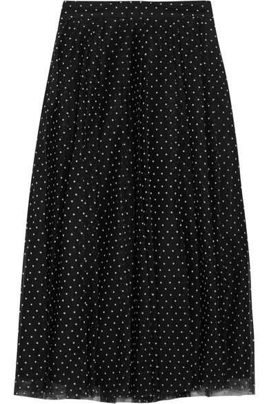 J.Crew - Fia Polka-dot Flocked Tulle Skirt - Black