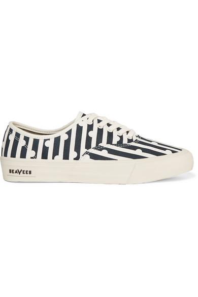 J.Crew - + Seavees Printed Canvas Sneakers - Navy