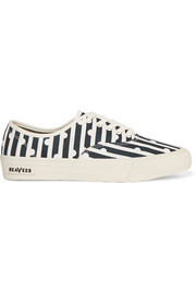 J.Crew + SeaVees printed canvas sneakers