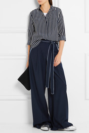 J.Crew Striped silk crepe de chine shirt