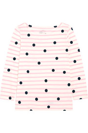 J.Crew Printed striped cotton-jersey top